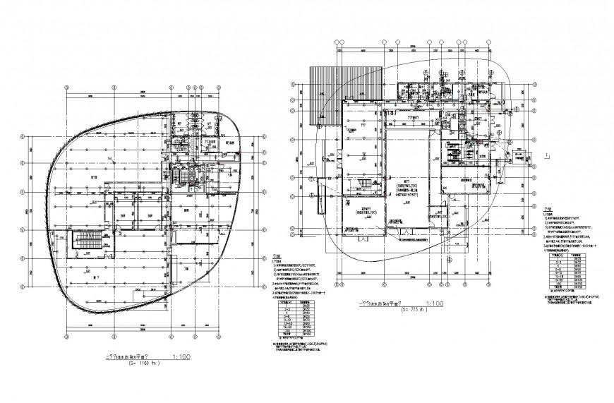 Business hub planning dwg file