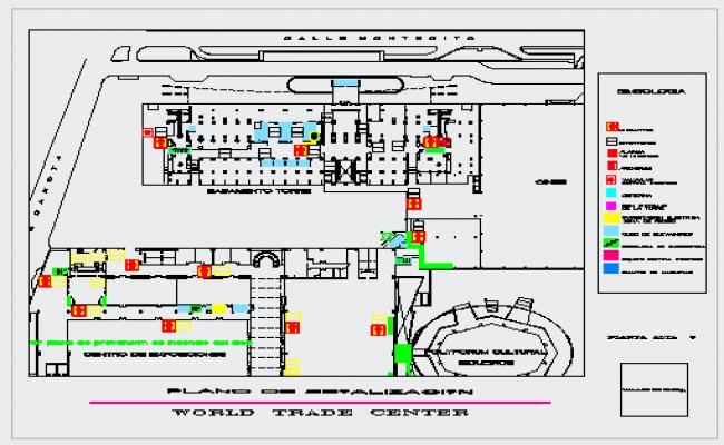 Signaling plan of world trade center design drawing