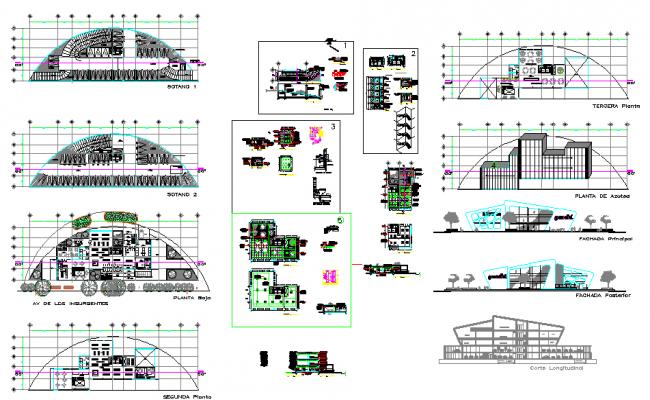 Libarary Design plan DWG