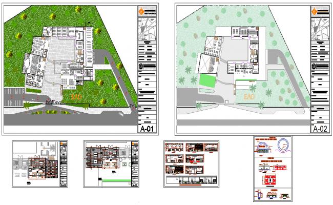 College with Hostel design plan