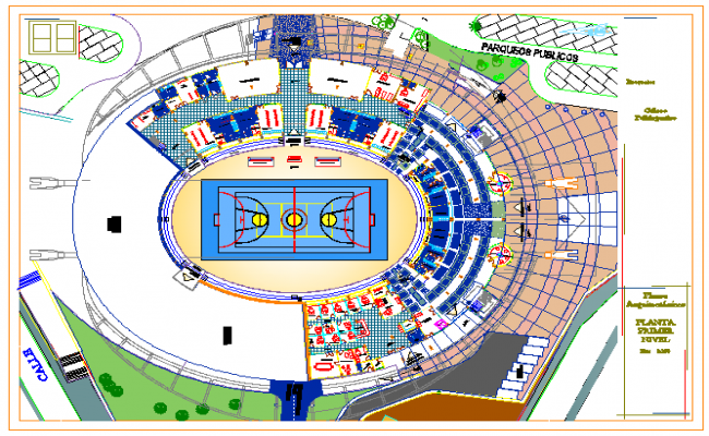 Coliseo Sports Center design drawing
