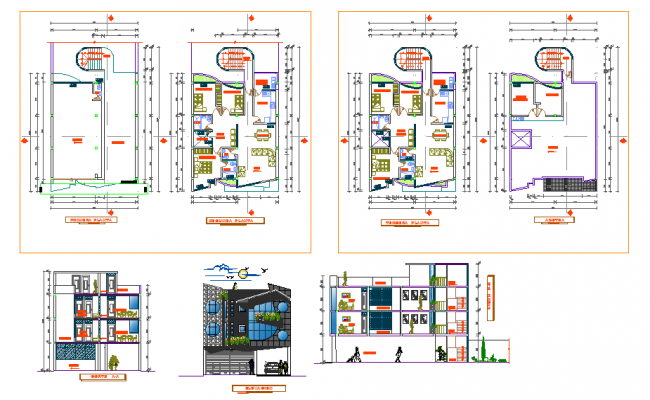 Apartment Residetial House Plan