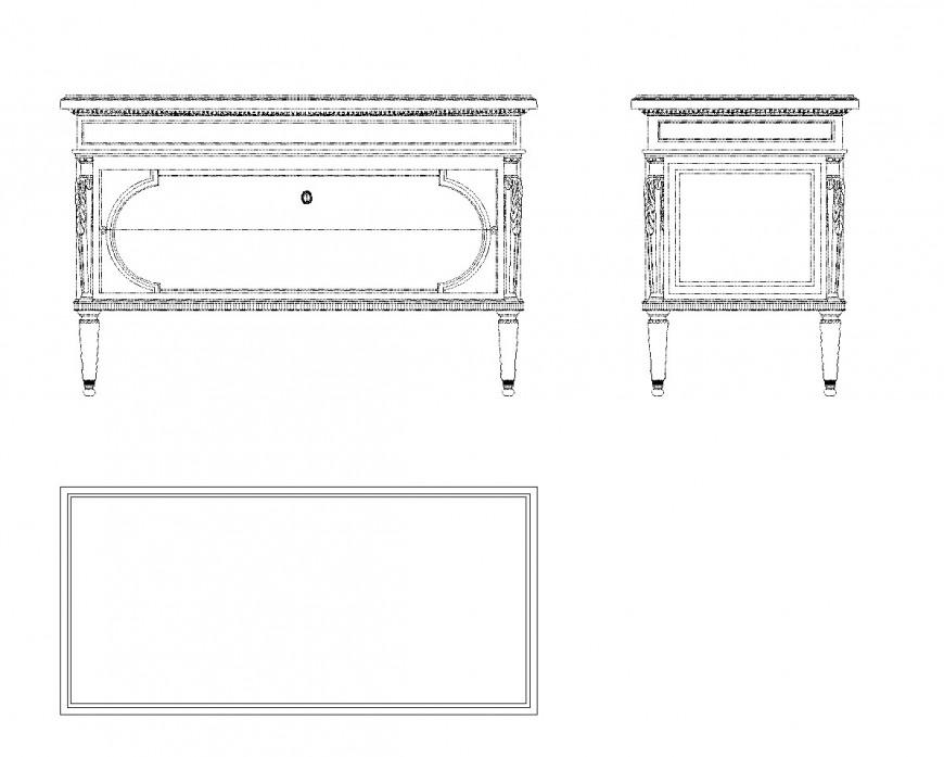 Cabinet autocad 2d interior block dwg file