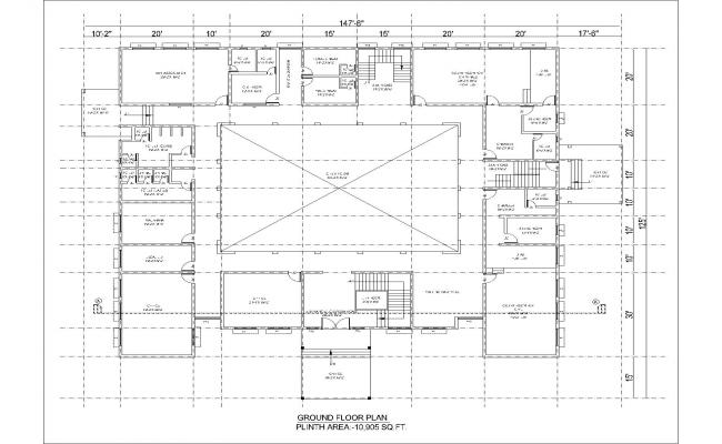 cad drawing office building