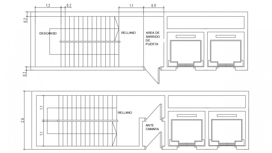CAD 2d drawings details of elevator blocks dwg autocad file