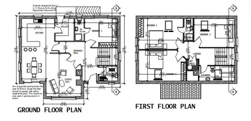 CAD 2d drawings details of house plan autocad software file