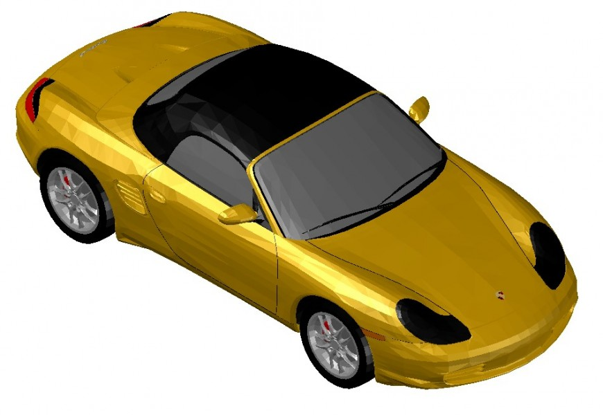 CAD 3d design drawings of car autocad software file