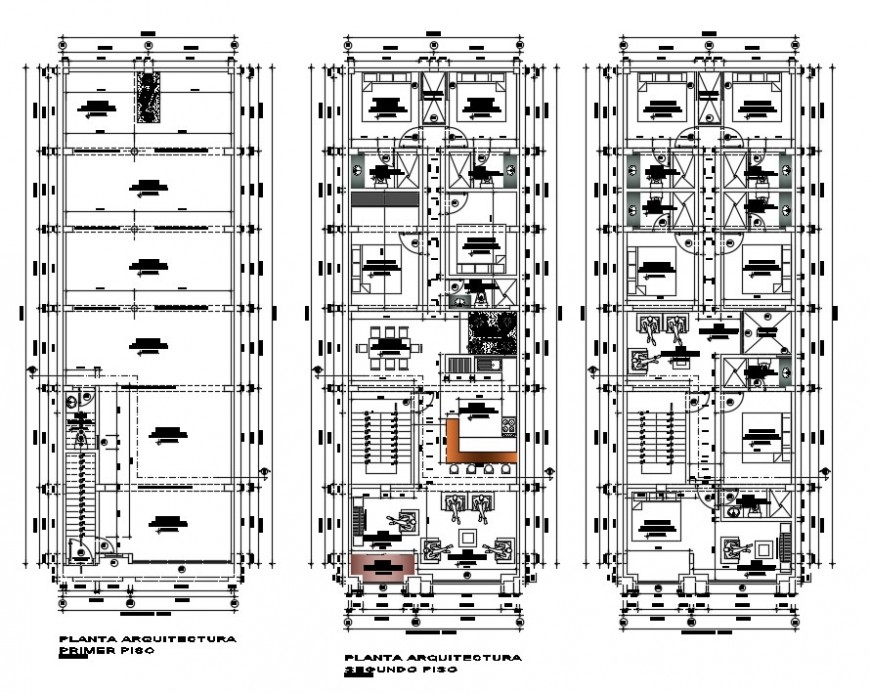 CAD apartment floor plan drawings 2d view autocad software file