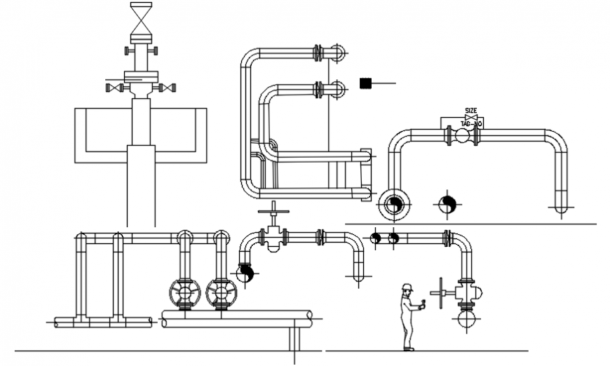 CAD blocks drawings of plumbing units dwgf AutoCAD file
