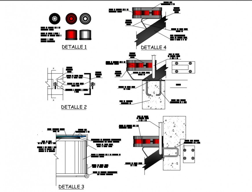 CAD construction detailing of elevator blocks dwg file