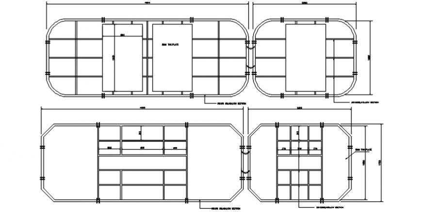 CAD design of gate design 2d view elevation dwg file