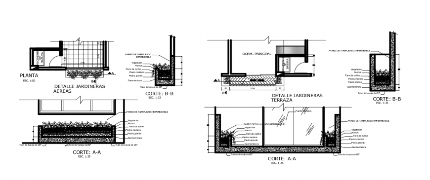 CAD drawing details of verandah area plan and section dwg file