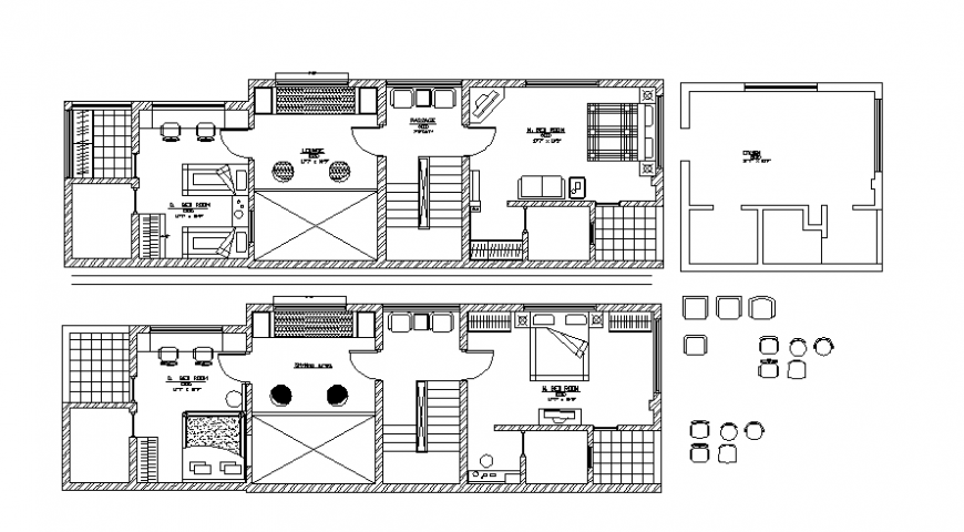 CAD Drawings 2d view of house layout floor plan autocad file