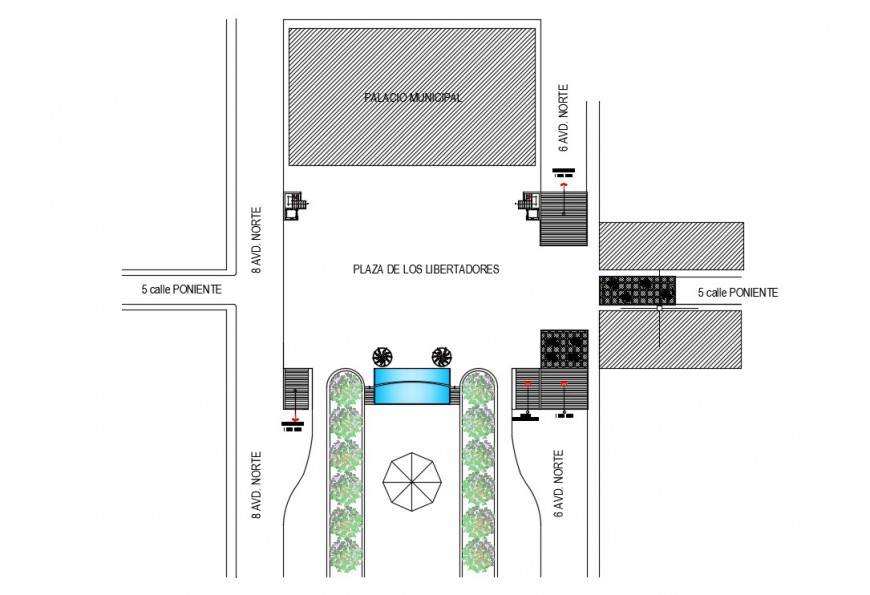 CAD drawings detailing of a prosed building area dwg file
