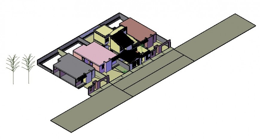 CAD drawings detailing of apartment 3d model dwg file