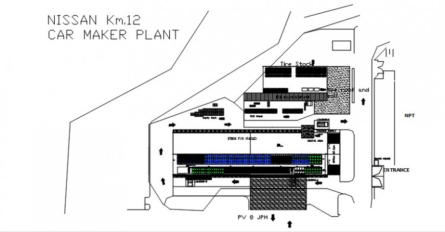 CAD drawings details of warehouse planning dwg autocad file