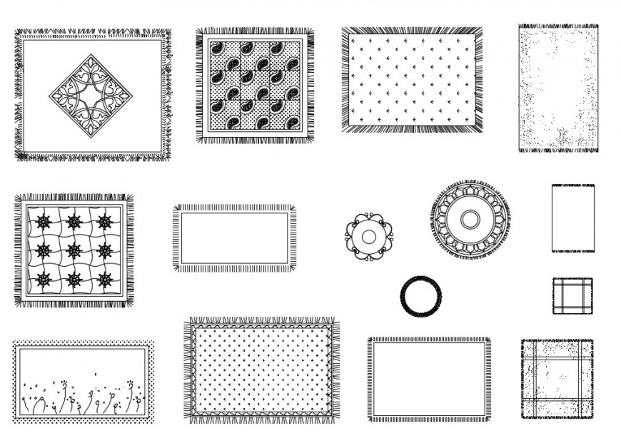 CAd drawings details of  floor carpet