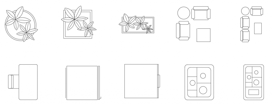 CAd drawings details of  two seater sofa