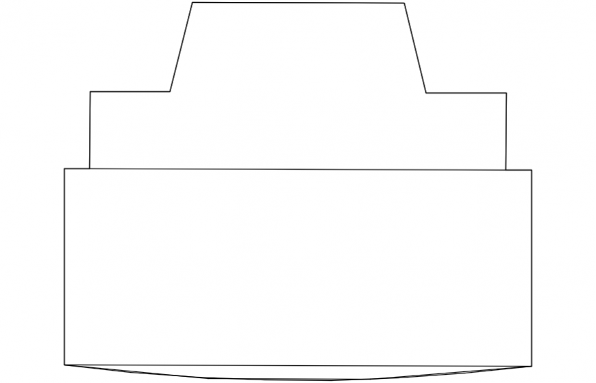 CAd drawings details of  top view  television