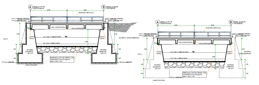 Cad drawings details of a top view of table