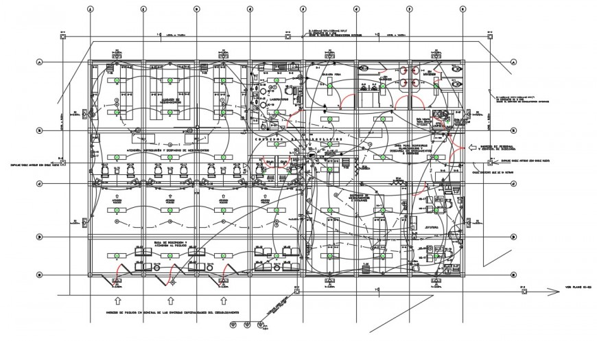 CAD drawings details of building electrical installation autocad file