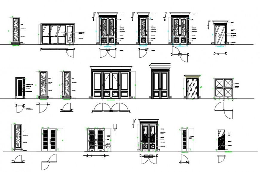 CAd drawings details of door elevation
