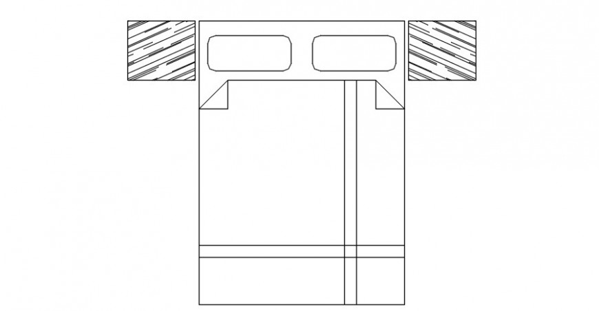 CAD drawings details of double bed blocks of furniture units dwg file