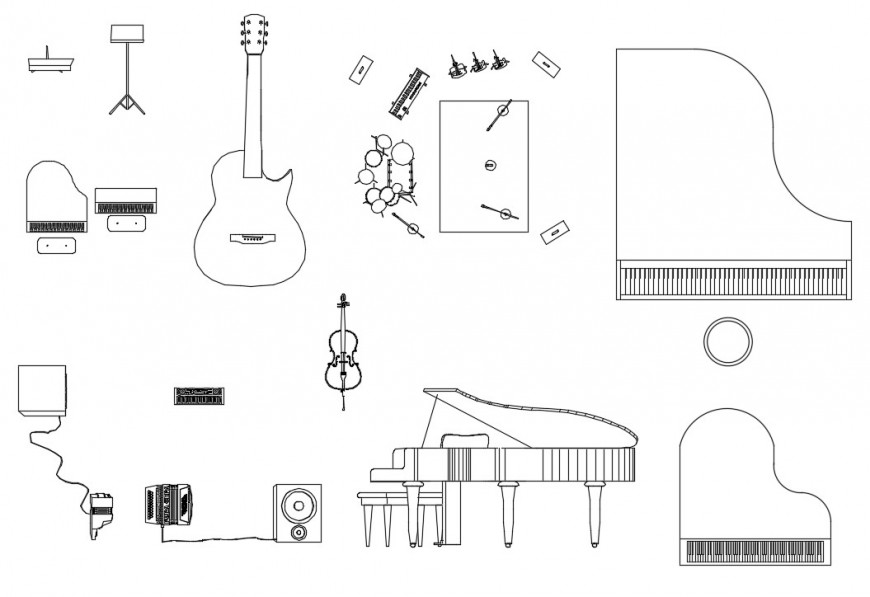 CAd drawings details of front and side