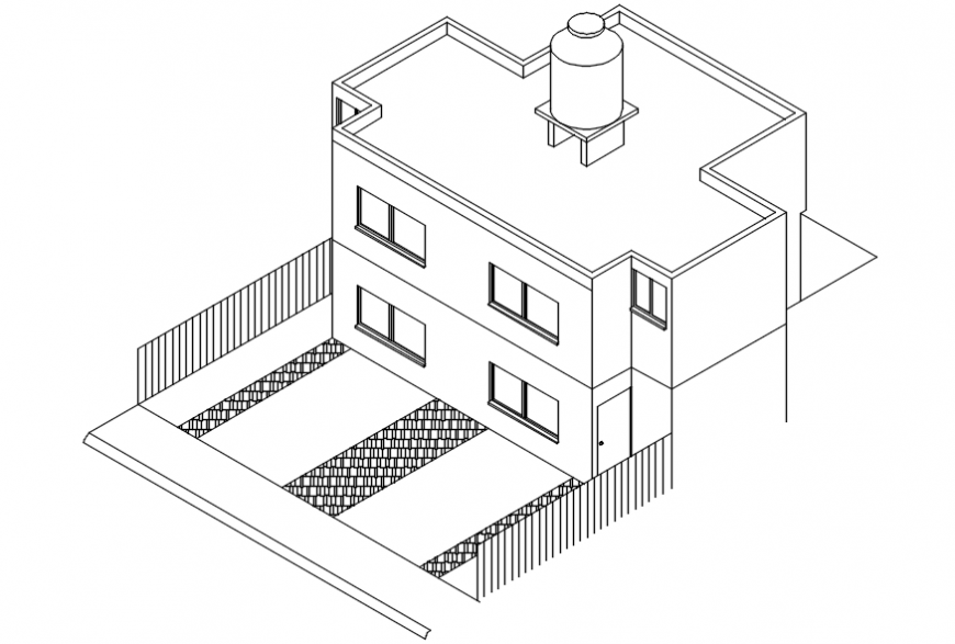 CAD drawings details of house blocks 3d model AutoCAD file