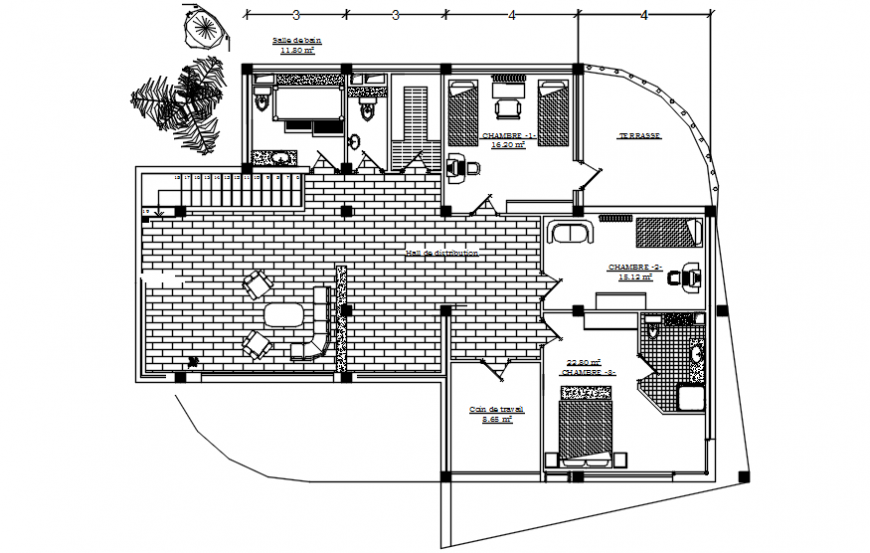CAD Drawings details of house layout autocad software file