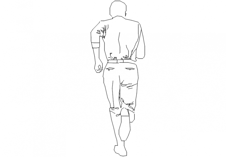 CAd drawings details of running boy