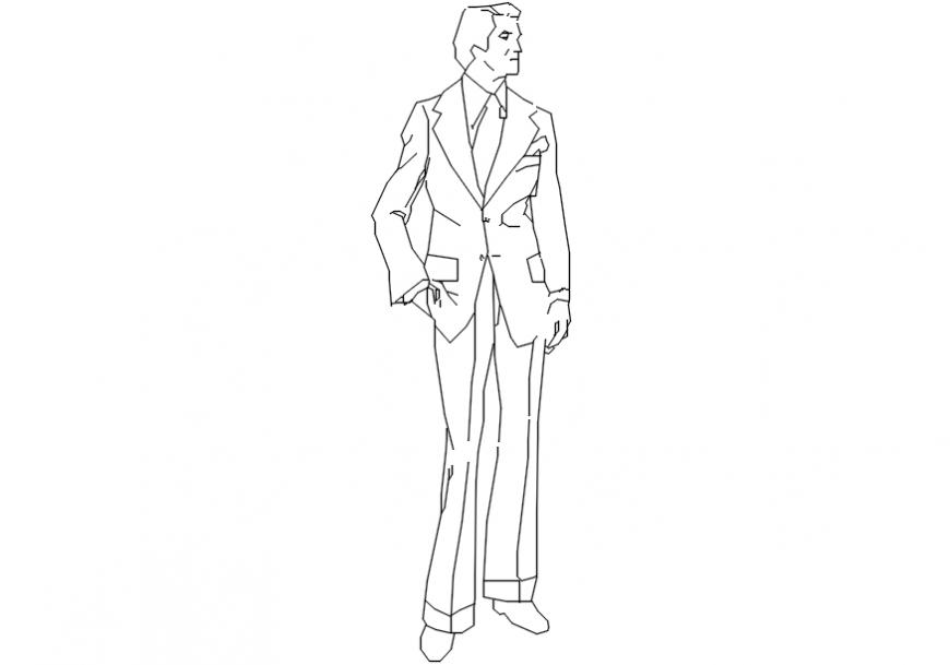 Cad drawings details of slim people units blocks dwg fil