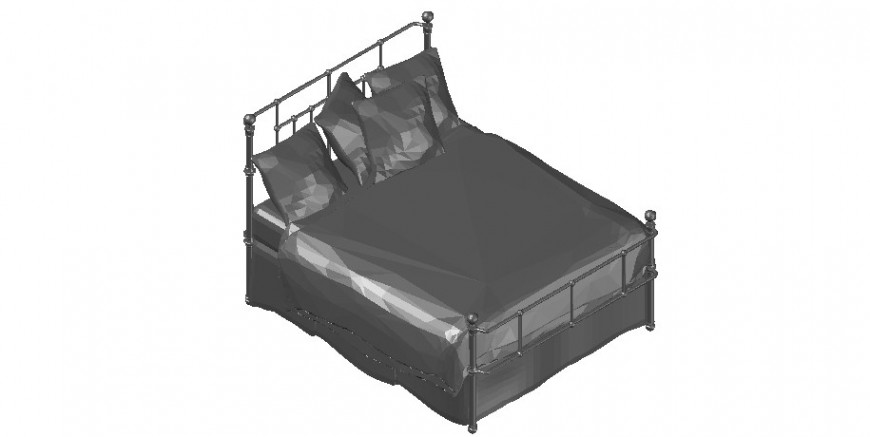 Cad drawings details of smooth bed