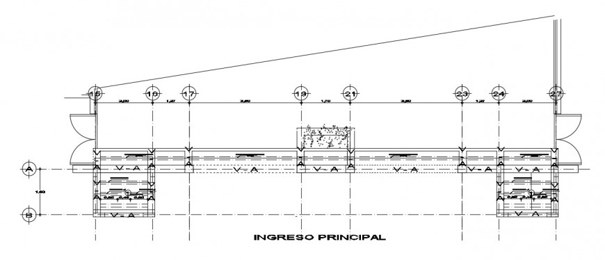 CAD drawings details of structural blocks of RCC units 2d view dwg file