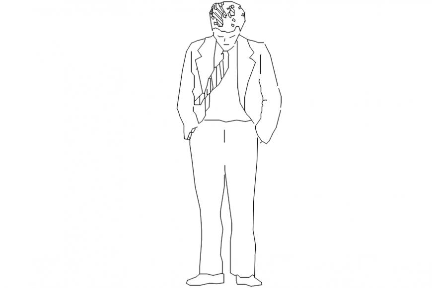 CAd drawings details of tensed people
