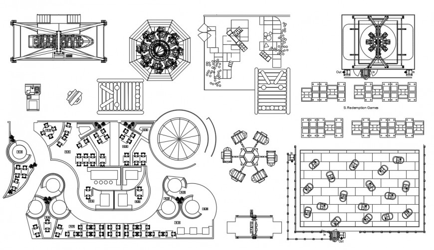 CAd drawings details of the attractions elevation work station