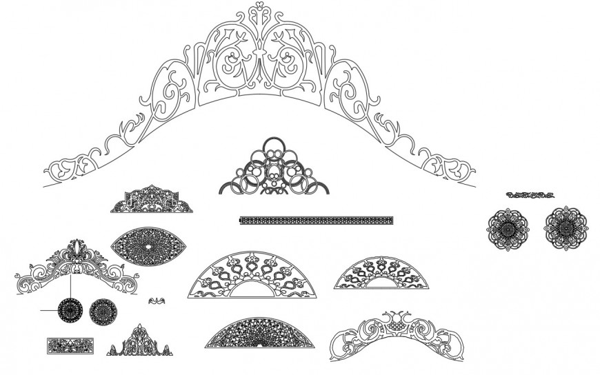 CAd drawings details of the bander door upper design