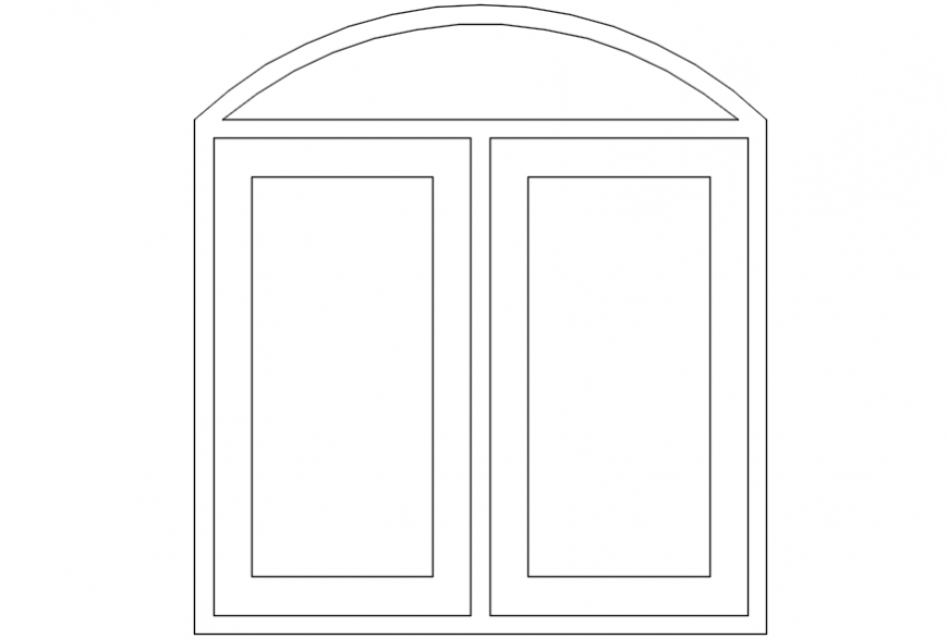 CAd drawings details of window unit