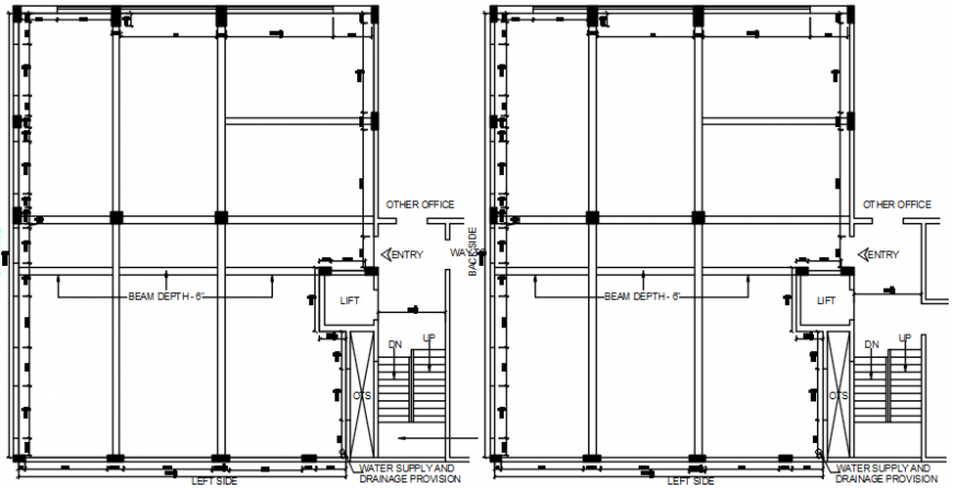 CAD drawings of elevator 2d view autocad software file