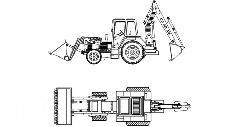Cad drawings of excavator