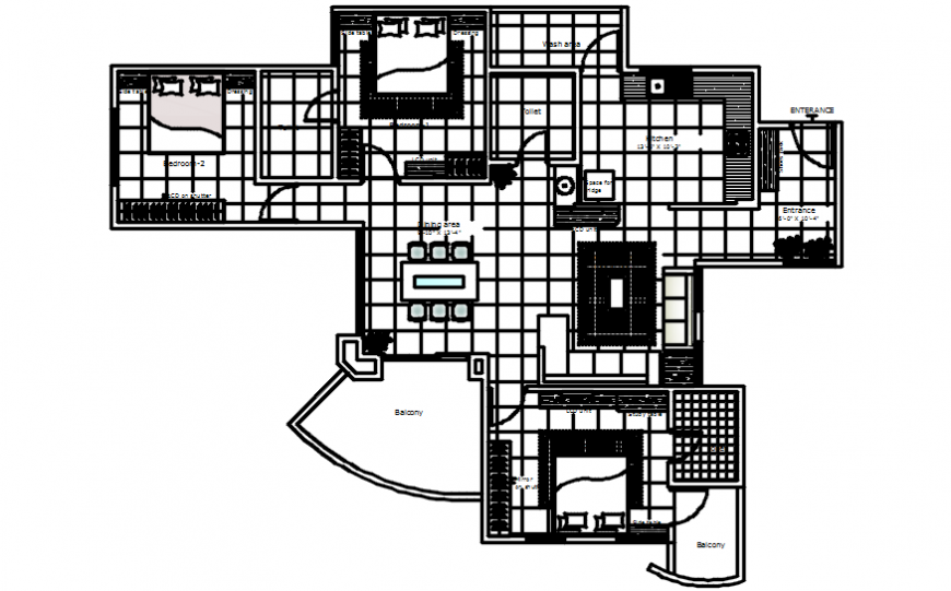 CAD drawings of residential house 2d view layout plan autocad software file