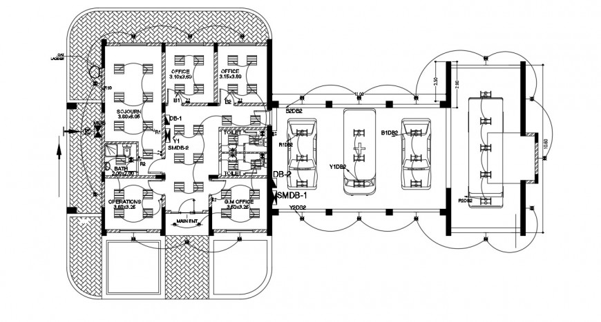 CAD electrical layout plan drawings details in hospital building dwg file