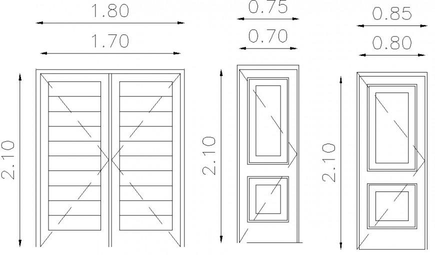 CAD elevation drawings detail of door window blocks dwg file