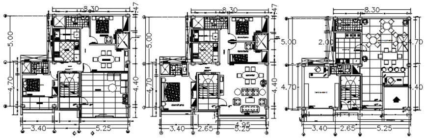 CAD house plan 2d drawings detailing in autocad software file