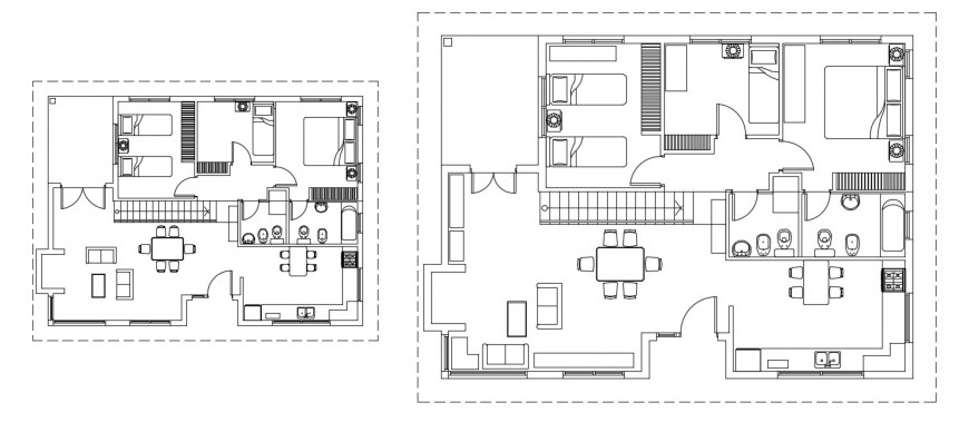 CAD layout plan of house 2d view autocad software dwg file