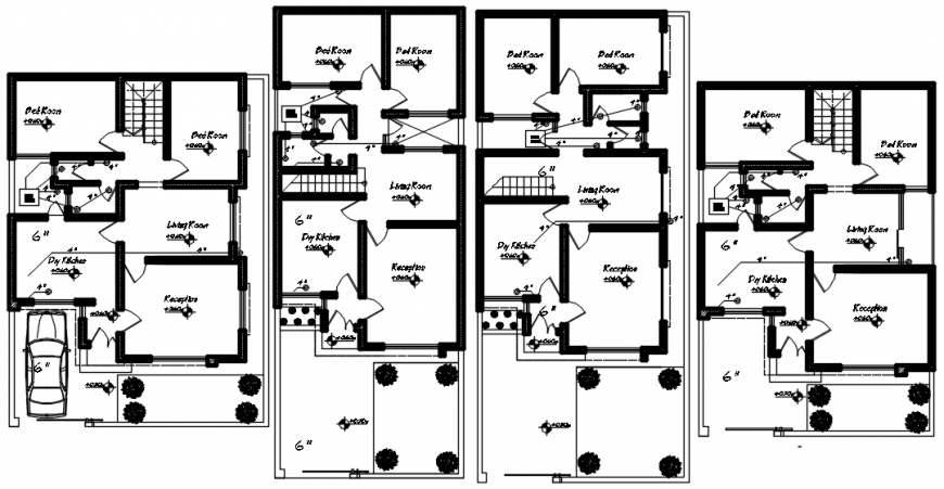 CAD plan drawings details of residential apartment blocks dwg file