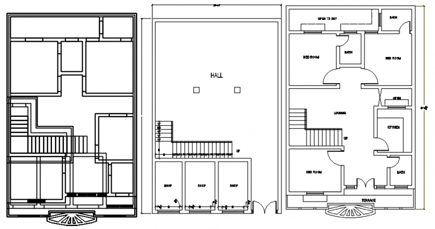 CAD plan of house 2d drawings dteials in autocad software file