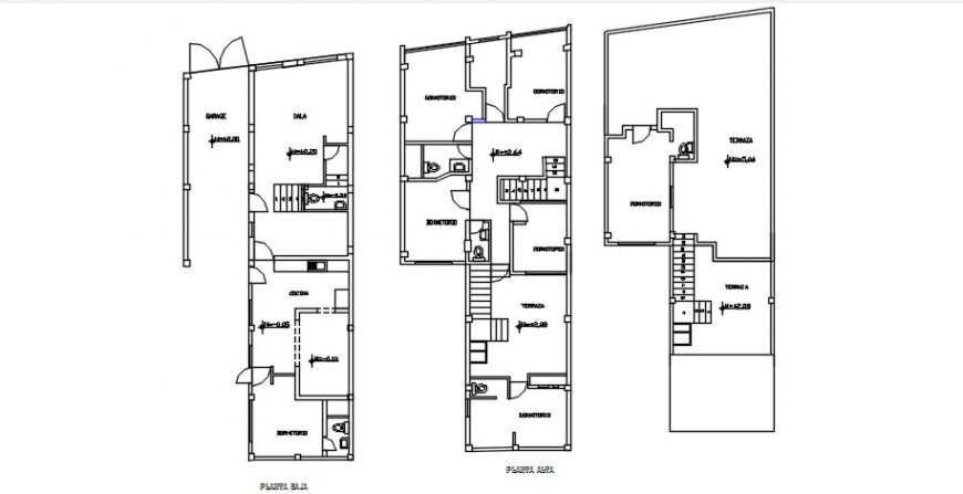 CAD plan of house 2d view drawings details in autocad file