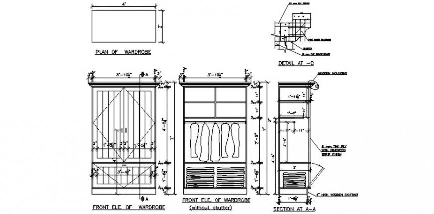 CAD wardrobe Furniture blocks autocad software file