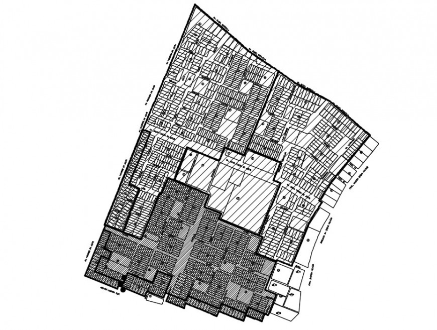 CAD zonal area detailing drawings 2d view plan dwg file